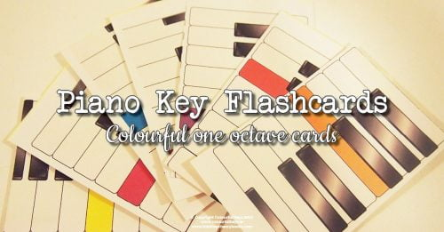 Piano key flashcards