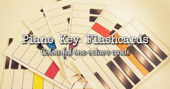 Piano Key Name Flashcards