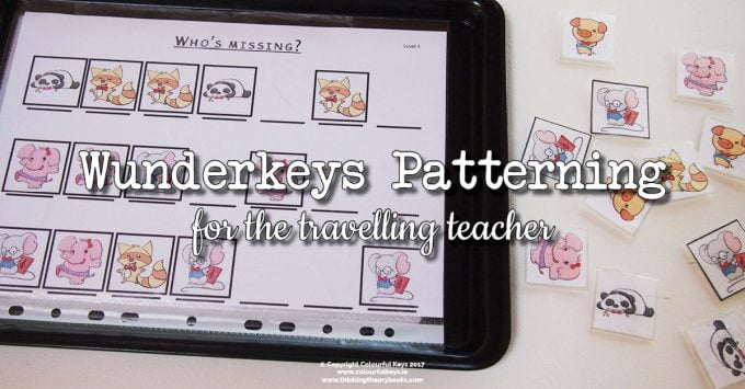 Wunderkeys Patterning Acitivities for Preschoolers (On-the-Go!)