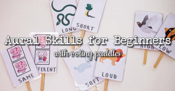 Voting Paddles for Beginner Piano Listening Skills
