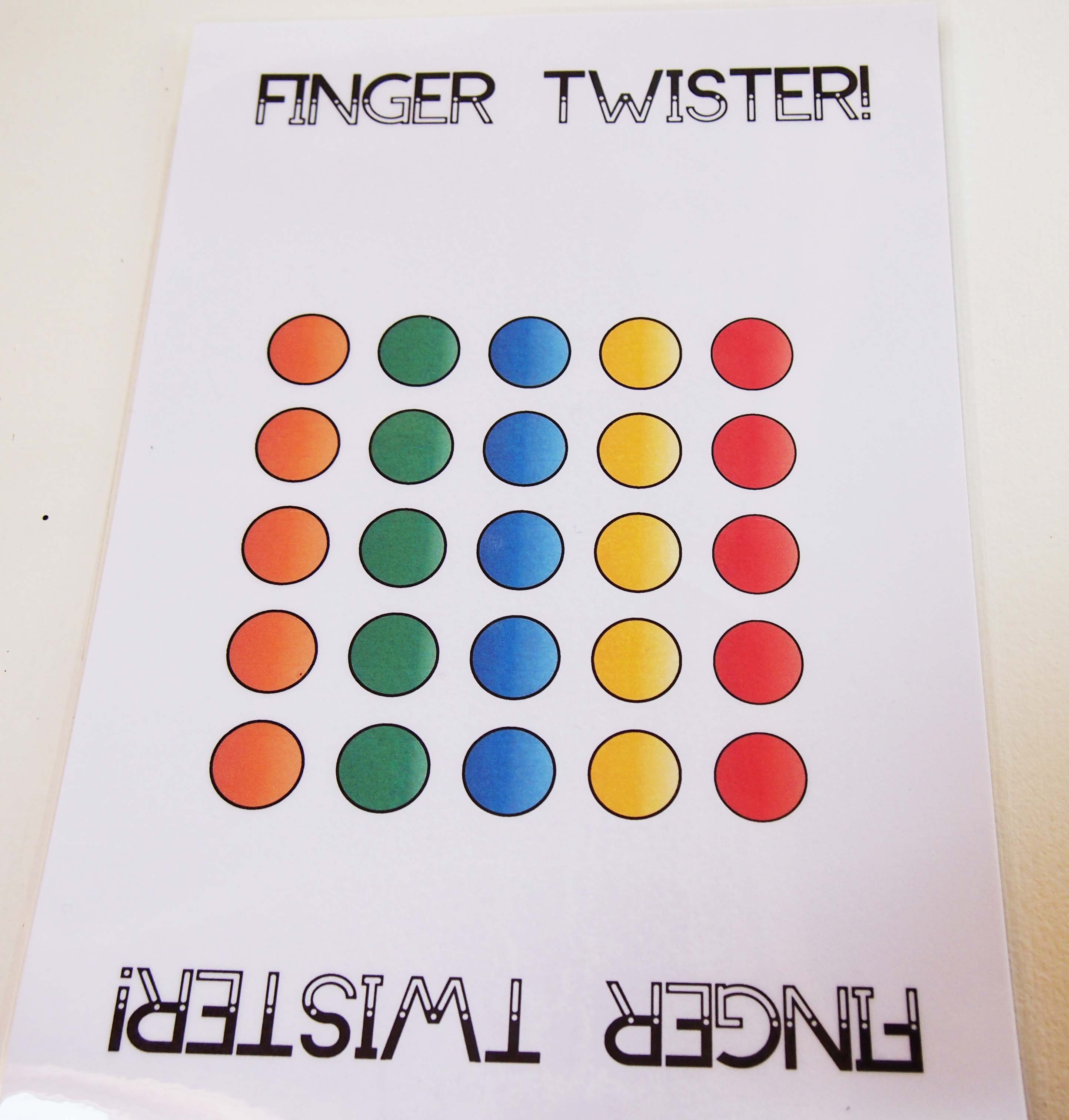 photo relating to Finger Twister Printable known as Piano Finger Amount Twister - Colorful Keys