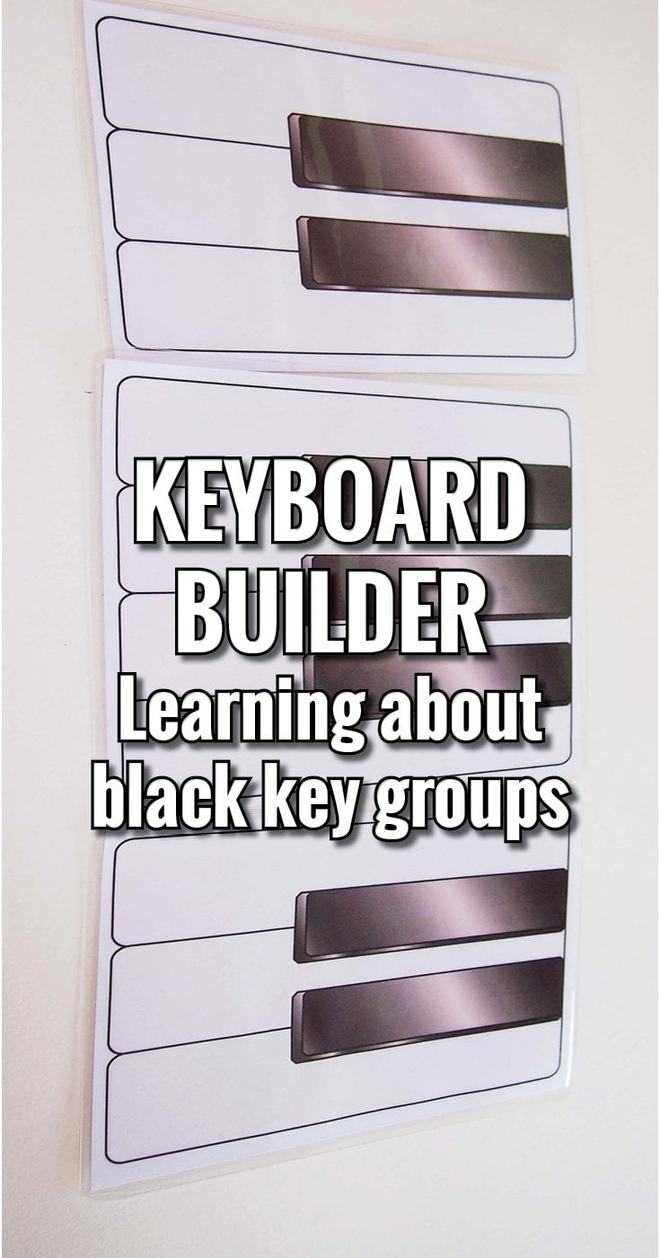 Learning about keyboard patterns with black key groups
