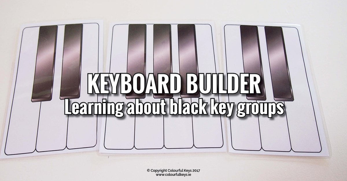 Piano Builder - black key group activity