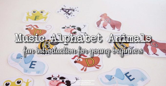 Introducing the Musical Alphabet with Animals