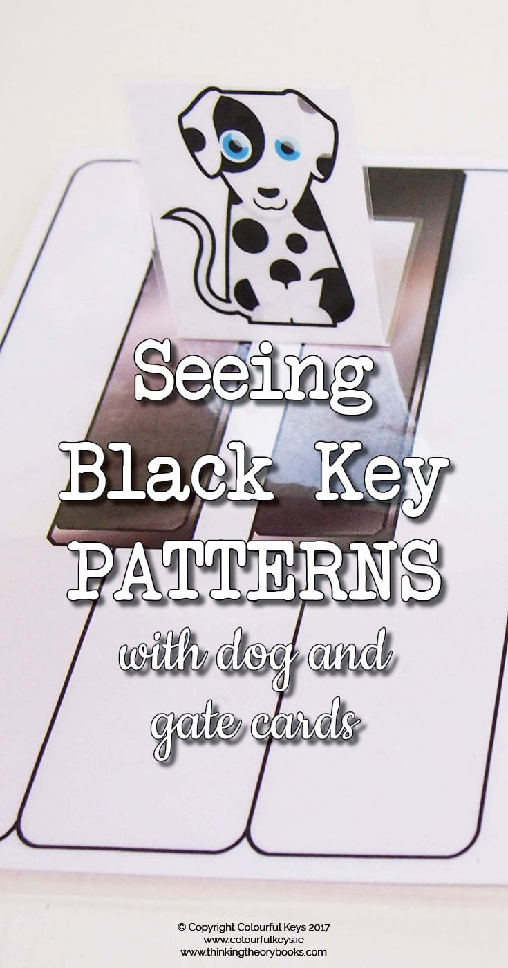 Seeing black key patterns with dogs and gates