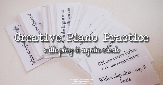 Play it Again Cards for Creative Piano Practice