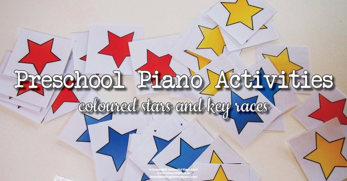 Pre-reading Games for Piano Preschoolers with Coloured Stars
