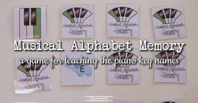 Musical Alphabet Memory Game for Piano Students