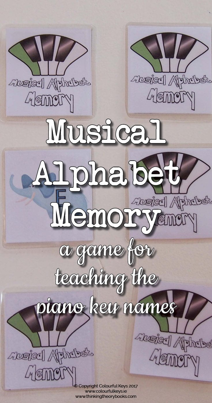 Musical alphabet memory game