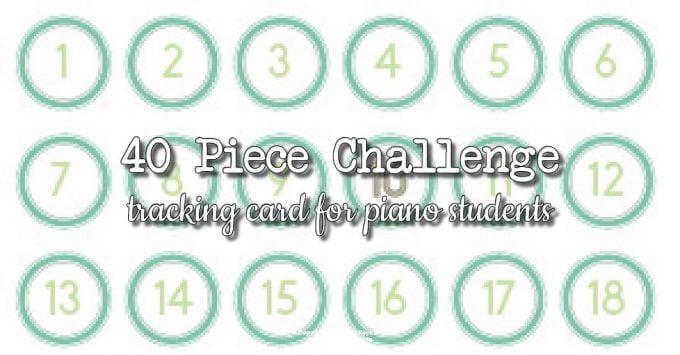 40 piece challenge