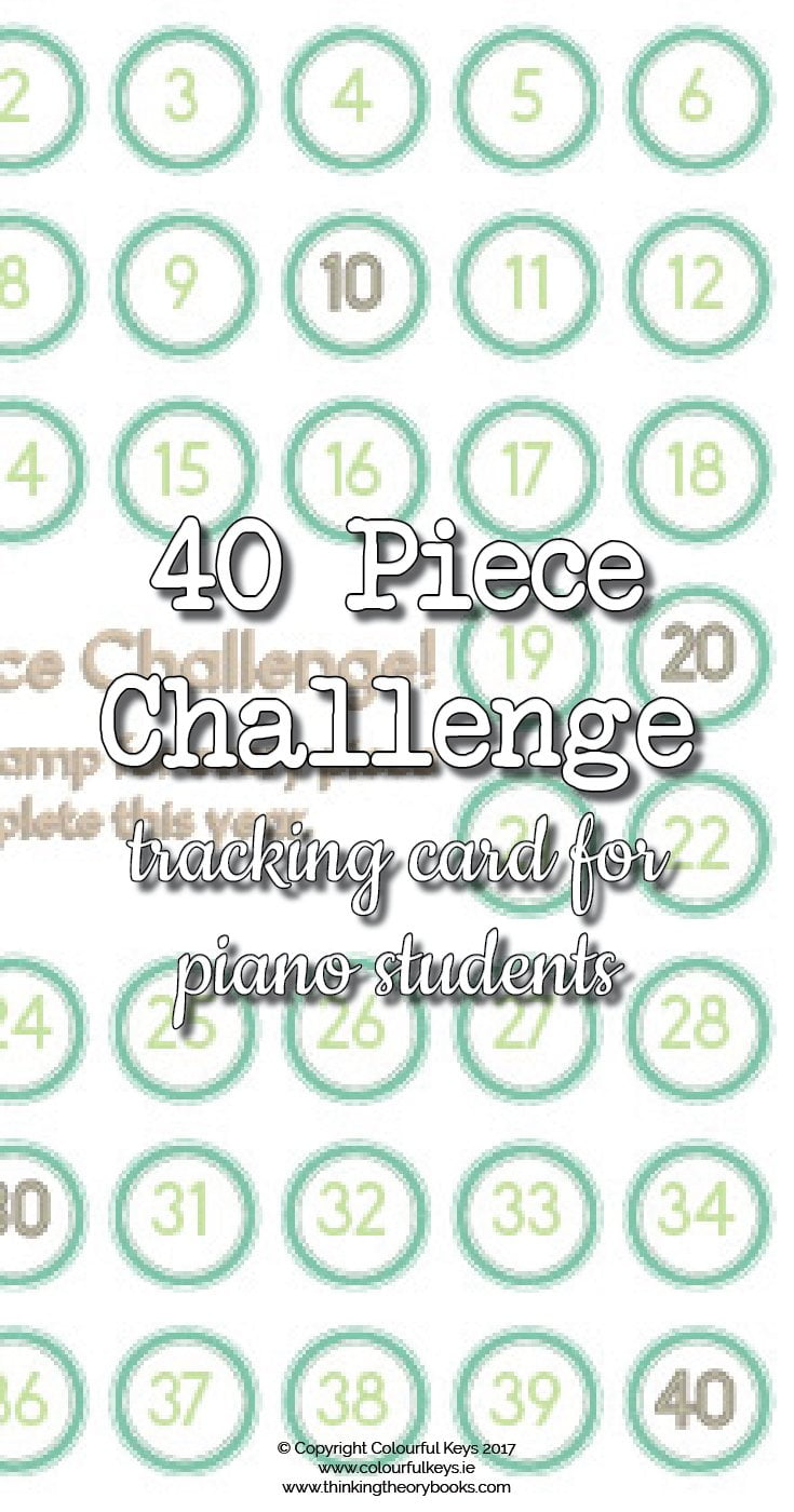 40 piece challenge for piano students