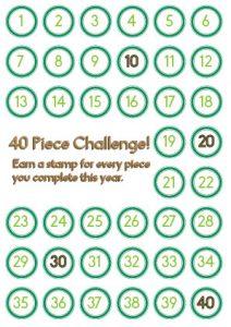 40 piece challenge card