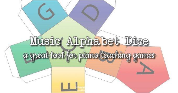 Musical Alphabet Dice for Piano Teaching Games