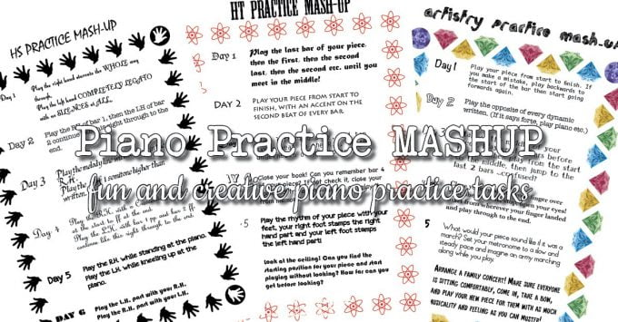 Keep Piano Students Focussed with a Piano Practice Mashup