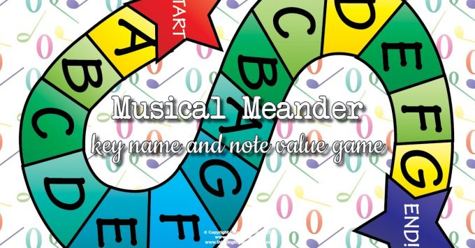 Musical Meander – Note Value and Key Name Review Game