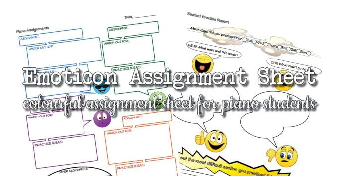 Emoticon Piano Student Assignment Sheet