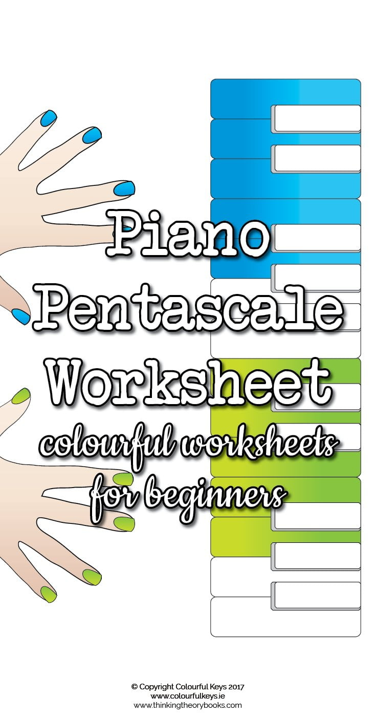 Piano pentascale worksheets