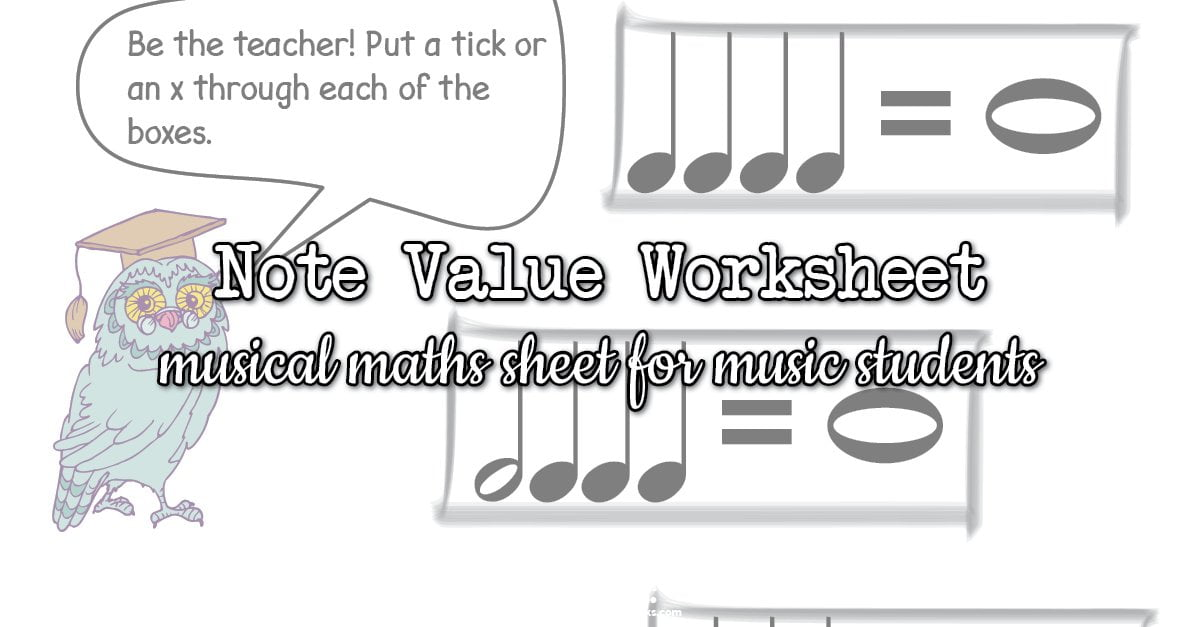 Note value worksheets
