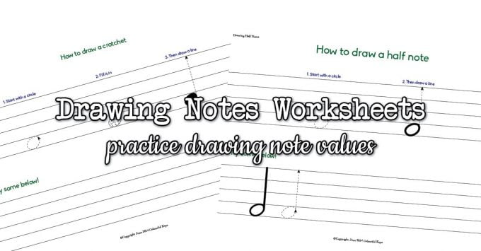 Drawing Half Notes & Quarter Notes (Crotchets & Minims)