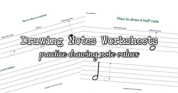Drawing Half Notes & Quarter Notes (Crotchets & Minims)