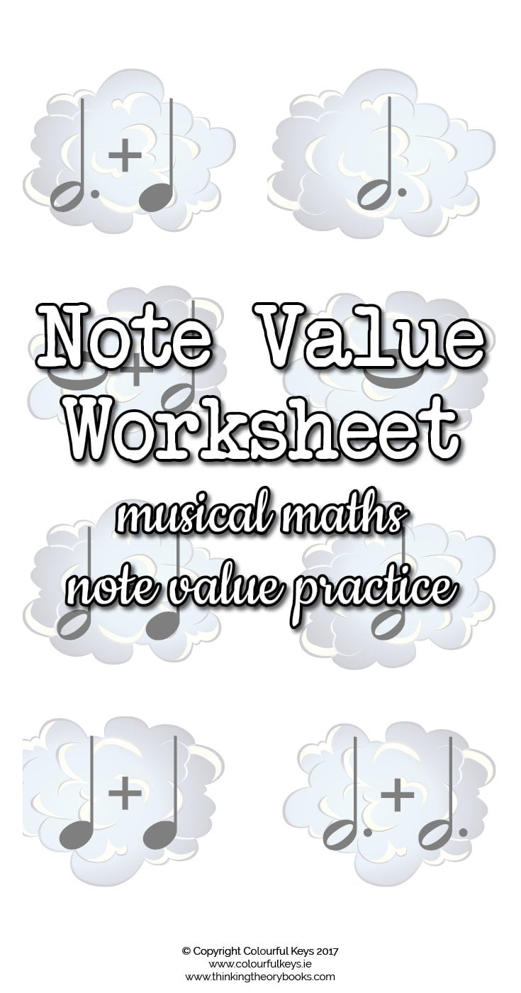 Musical maths note values worksheet