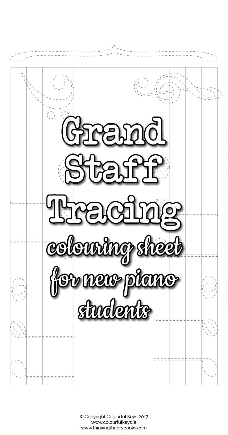 musical grand staff coloring pages - photo#8