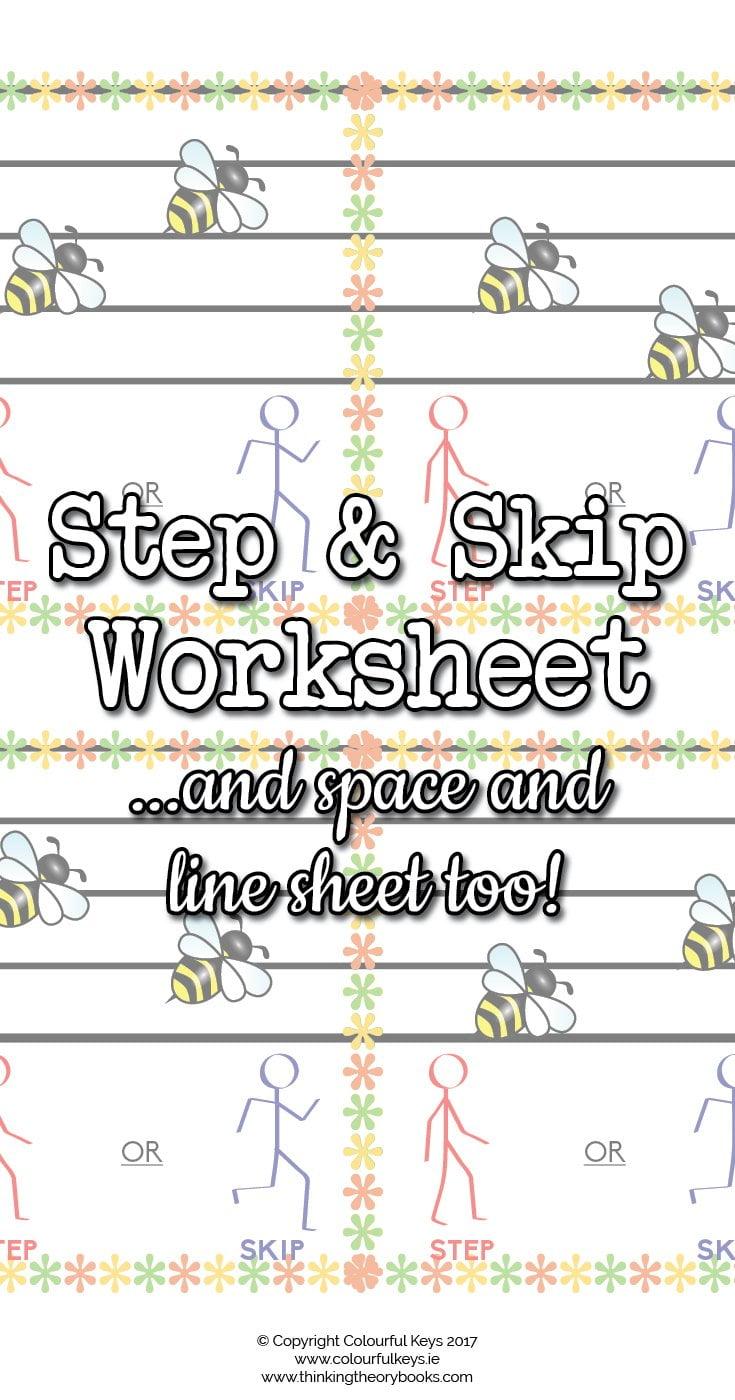Step and skip worksheet for music students