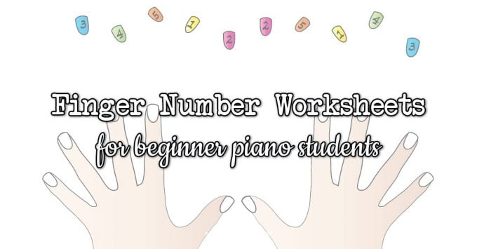 finger numbers worksheets for piano students
