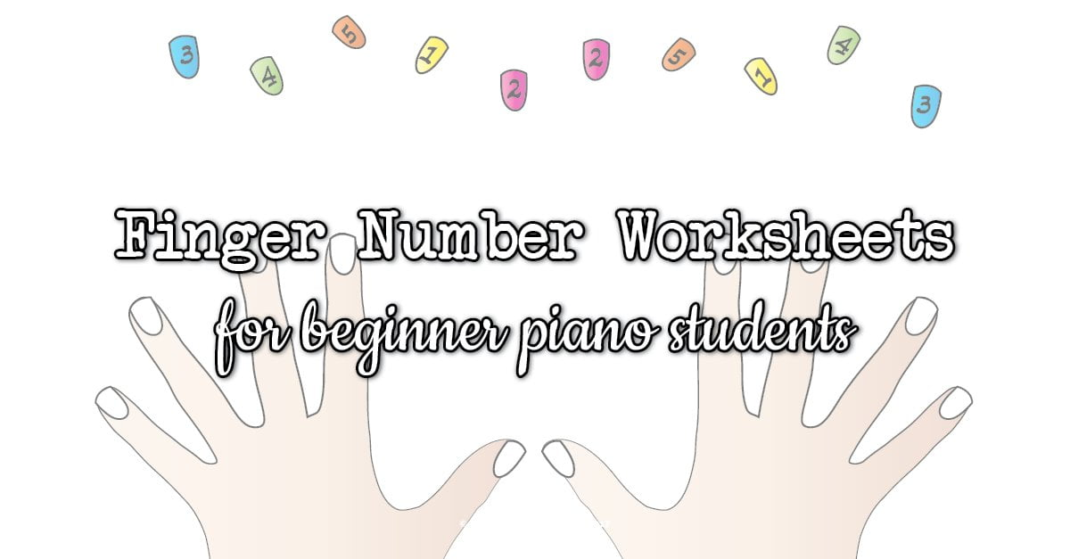 Finger Number Worksheets For Piano Students Colourful Keys