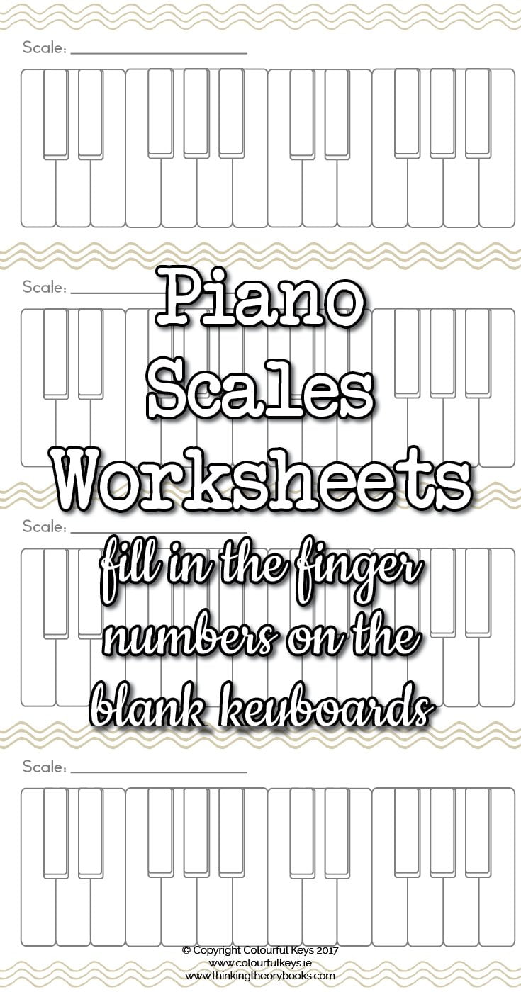 Blank Scale Keyboards Worksheet Colourful Keys
