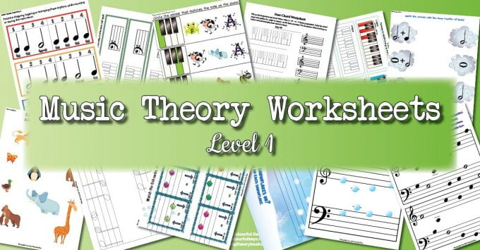 Theory Worksheet Catalogue – Level 1