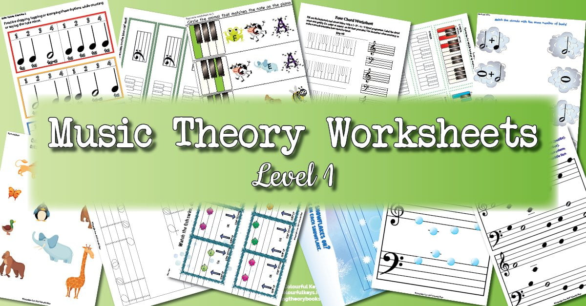Theory Worksheet Catalogue for level 1 piano students