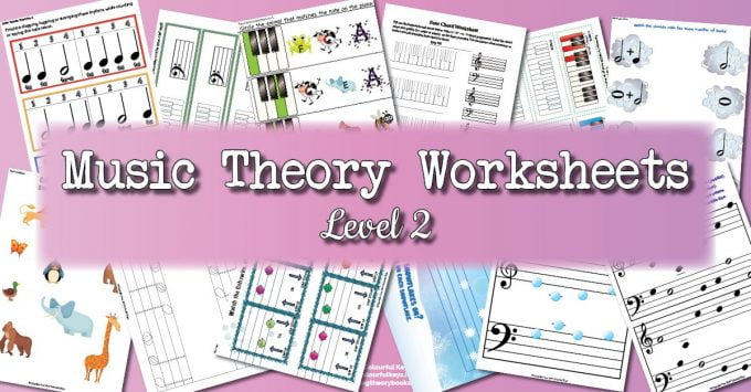 Theory Worksheet Catalogue for level 2 piano students