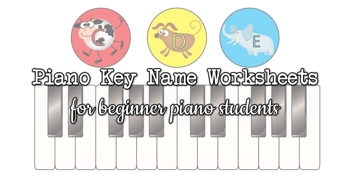 Piano key worksheets