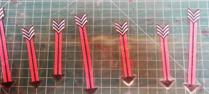 piano scale spinner laminated arrows