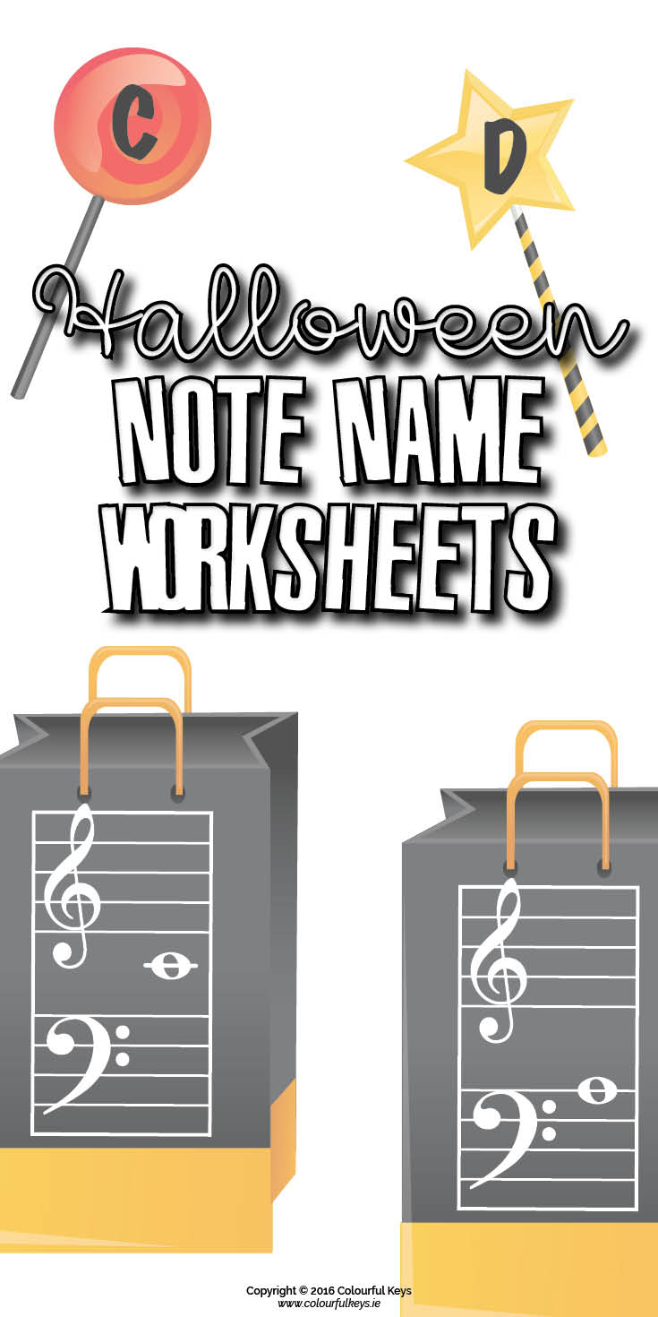 worksheet Note Name Worksheets halloween note name worksheets themed review colourful music theory worksheets