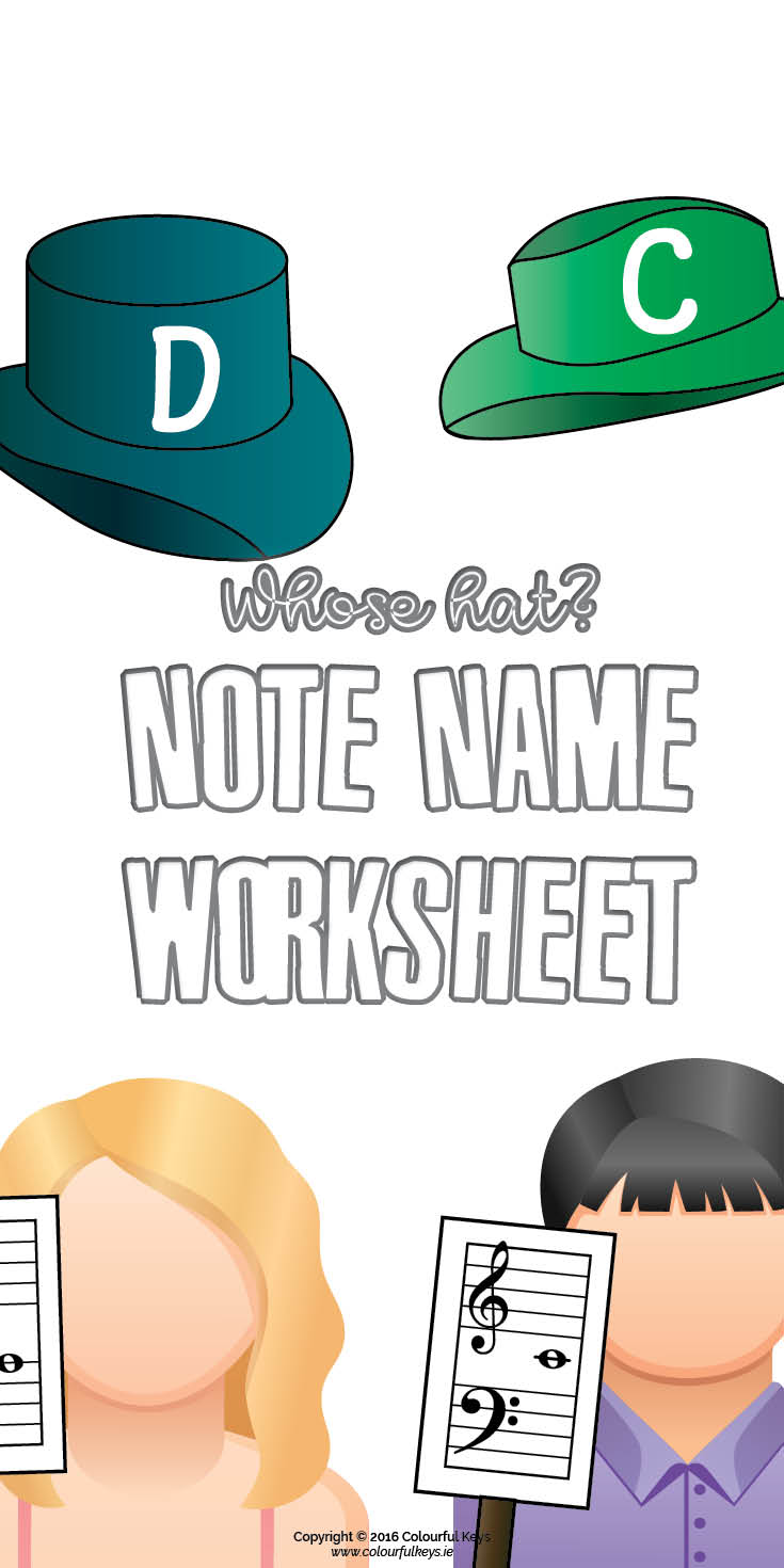 Fun note name grand staff worksheet
