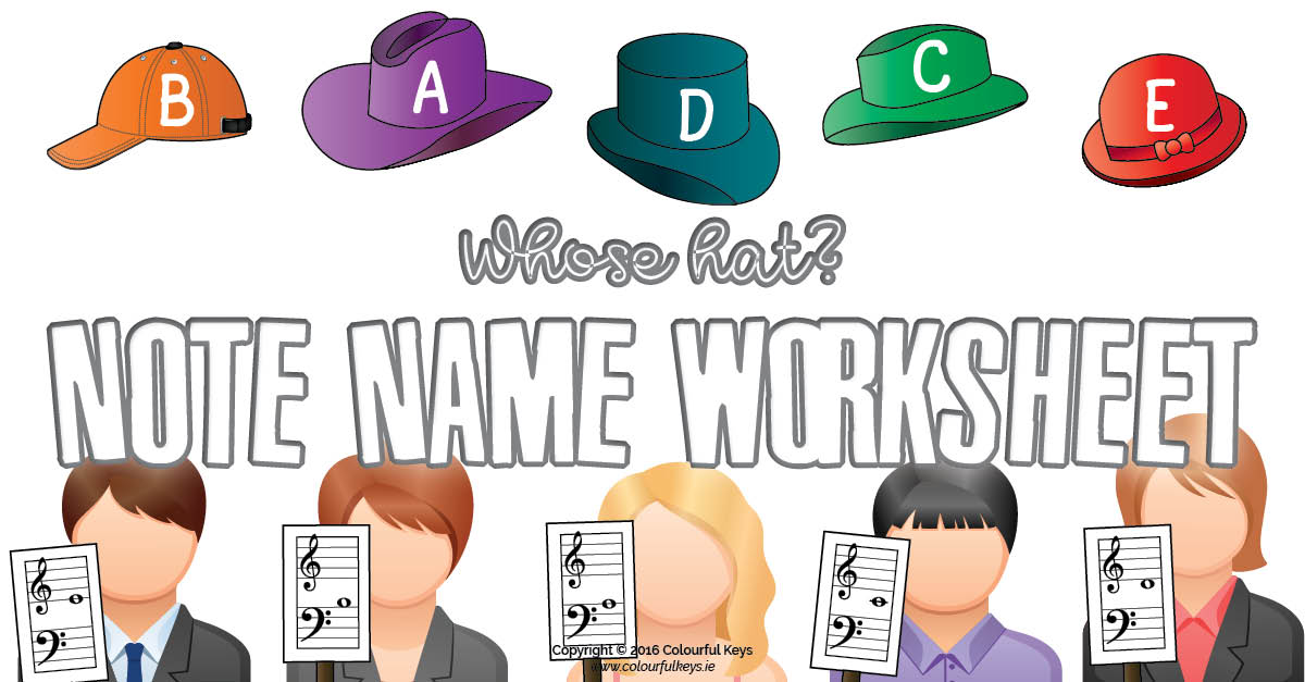 Fun note name worksheet