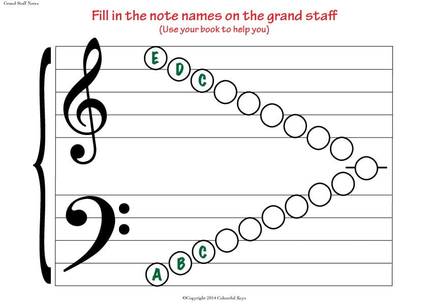 Grand Staff Empty Notes Big ...