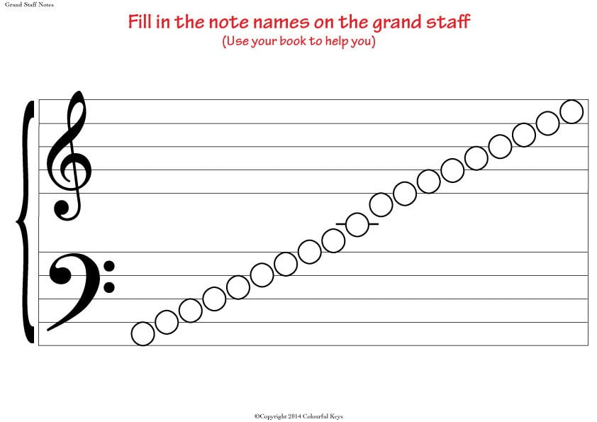 Lovely ... Grand Staff Empty Notes Small