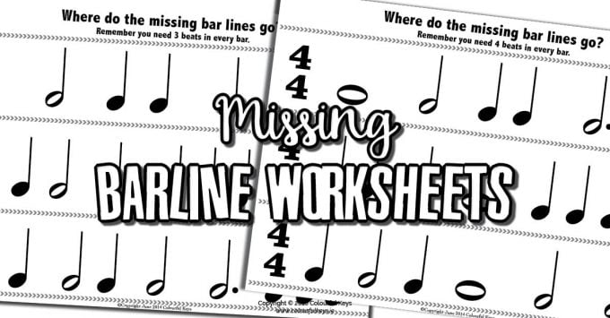 Time signature worksheet