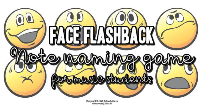 Face Flashback – Middle C Note Names Game for Beginning Piano