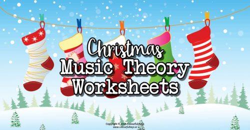 Christmas theme music worksheets