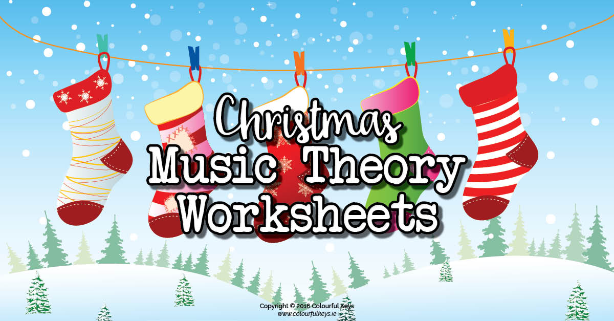 Christmas Music Theory Worksheets: Matching Christmas Stockings with ...