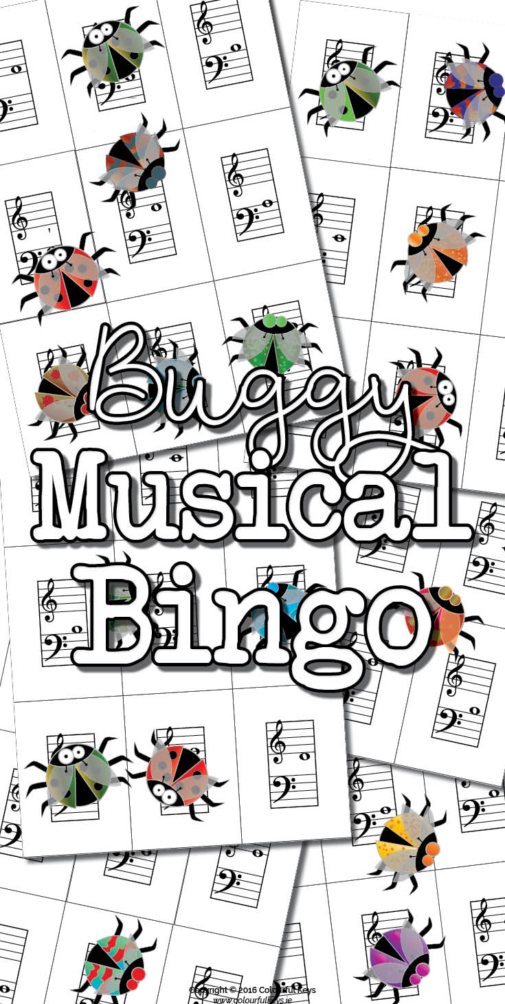 Note name bingo for music students