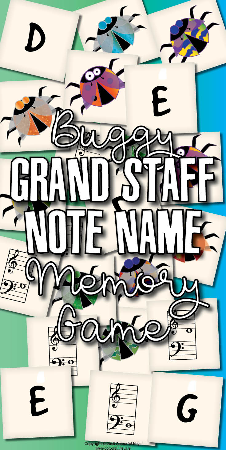 Grand staff memory game for music students