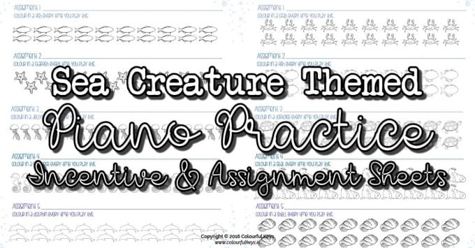 Fishy Practice Incentive & Assignment Sheet that Encourage Repetition