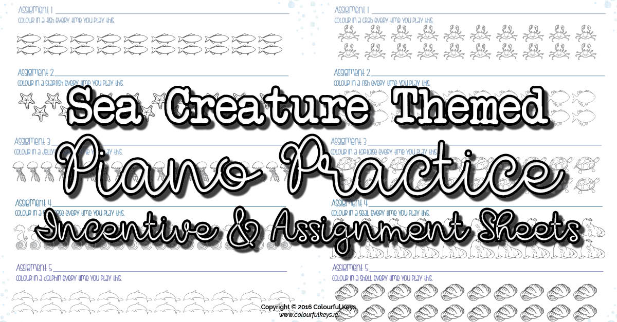Fish theme practice incentive and assignment sheets