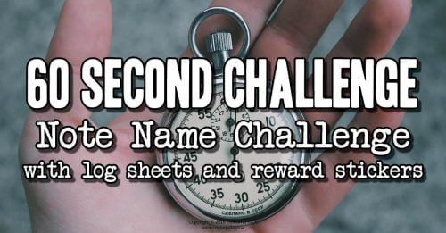 60 second note naming challenge