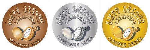 60 second challenge stickers